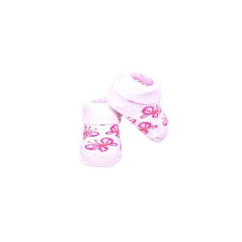 APOLLO sokjes butterfly wit met roze giftbox! Newborn