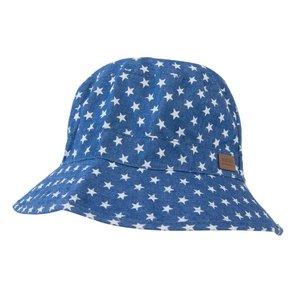 MELTON zomerhoedje jeansblauw met sterren (uv protection)