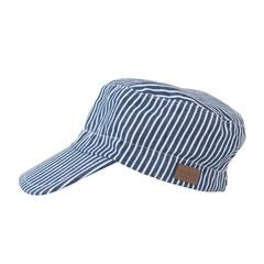 MELTON petje jeansblauw - wit met strepen (uv protection)