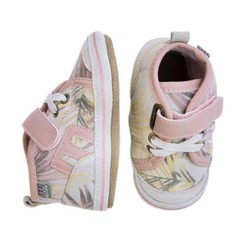 MELTON leren baby schoentjes roze jungle style