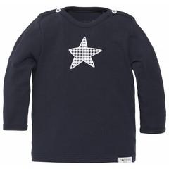 NOPPIES Texas NOS longsleeve marineblauw met ster