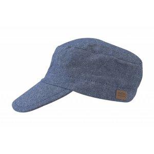 MELTON petje jeansblauw