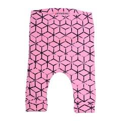 WOODEN BUTTONS baggy broekje cubes roze