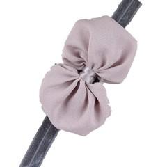 haarbandje met grote strik grijs