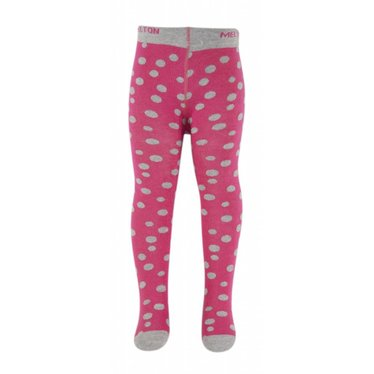 MELTON Melton maillots fuchsia roze met grijze stippen