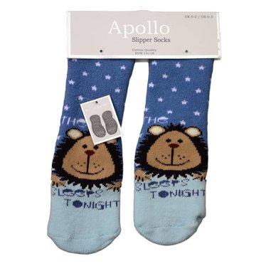 APOLLO Apollo anti-slipsokken blauw met babyblauw