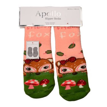 APOLLO Apollo anti-slipsokken peach met groen