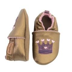 MELTON leren baby schoentjes met kroontje