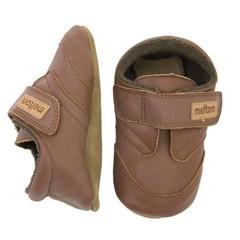 MELTON leren sneakers brown ale