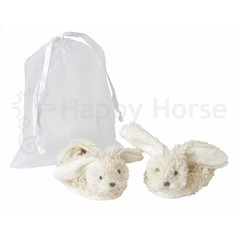HAPPY HORSE ivory richie slippers in a g.bag