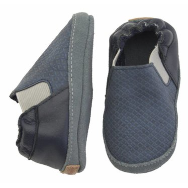 MELTON Melton leren - suede schubbenprint sneakers blue