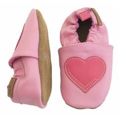 MELTON leren baby schoentjes hart pink
