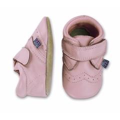 MELTON leren baby schoentjes pink