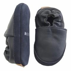 MELTON leren baby schoentjes dark blue