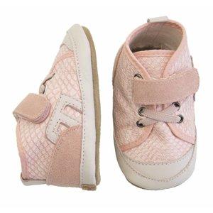 MELTON leren - suede schubbenprint sneakers pink
