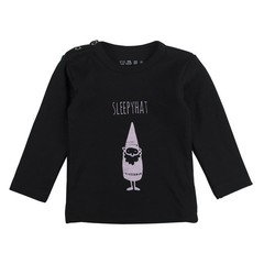 PLUM PLUM sweater sleepy head kabouter black