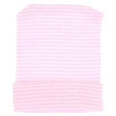 NEW BORN mutsje gestreept roze