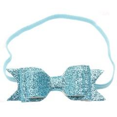 haarbandje met glitterstrik blue