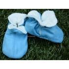 MELTON baby slofjes blue