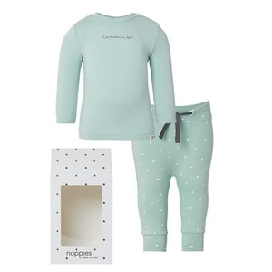 NOPPIES Nos Cadeauverpakking basic grey mint