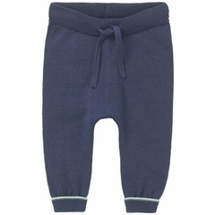 NOPPIES broek stripe look dark indigo