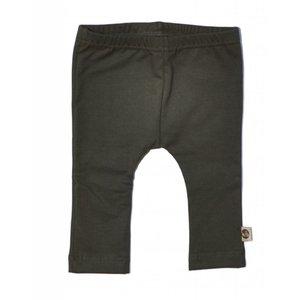 WOODEN BUTTONS basic legging dark green