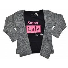 KNOT SO BAD meisjes 2 delig setje super girly navy/black