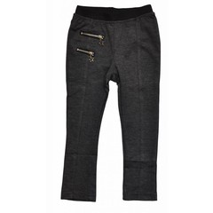 KNOT SO BAD meisjes legging pocket stars anthracite grey melee
