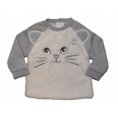 KNOT SO BAD trui cat grey/white