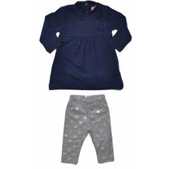 KNOT SO BAD 2 delig setje longesleeve met legging grey/blue
