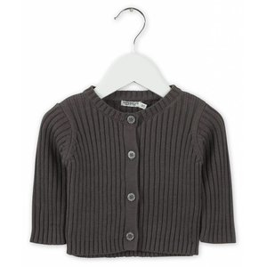 IMPS&ELFS cardigan long sleeve dark stone grey