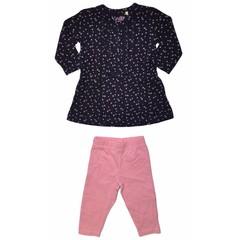 KNOT SO BAD 2 delig set jurk star met legging navy/pink