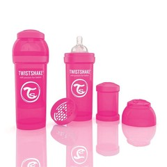Twistshake Fles anti-koliek 260 ml pink