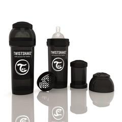 Twistshake Fles anti-koliek 260 ml black