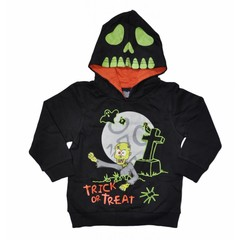 KNOT SO BAD jongens sweater as zombie black