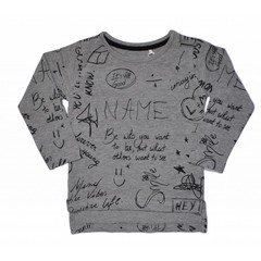 KNOT SO BAD meisjes longsleeve assorti grey