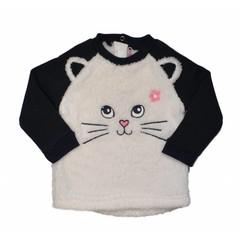 KNOT SO BAD trui cat black/white