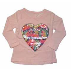 KNOT SO BAD meisjes veegshirt heart jazz pink