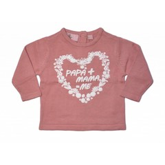 KNOT SO BAD longesleeve papa + mama = me pink as