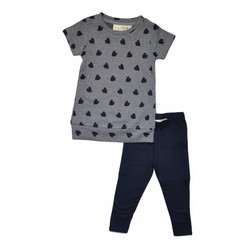 KNOT SO BAD meisjes jurk hearts navy/grey