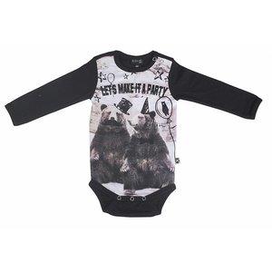 KIDS - UP Kids-Up baby boys body longsleeve black
