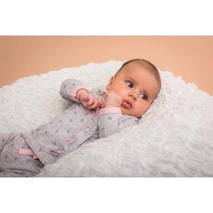 DIRKJE BABYKLEDING baby t-shirt longsleeve stars basics grey melee + aop