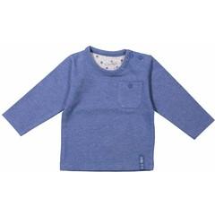 DIRKJE BABYKLEDING baby t-shirt longsleeve pocket basics blue melee