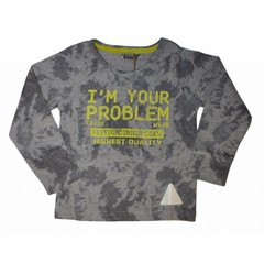 DJ DUTCHJEANS limited t-shirt longsleeves with aop grey melee + navy