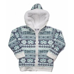 DIRKJE BABYKLEDING so soft lovely little lady outside cardigan jacquard mint green