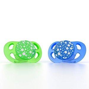 Twistshake 2x fopspeen blauw+groen