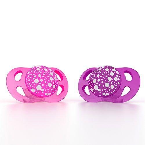 Twistshake Twistshake 2x fopspeen roze+paars