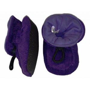 MELTON baby slofjes dark violet