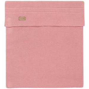 NOPPIES nos baby bed deken knit nola  120x120 cm old pink
