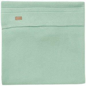 NOPPIES nos baby bed deken knit nola  120x120 cm grey mint